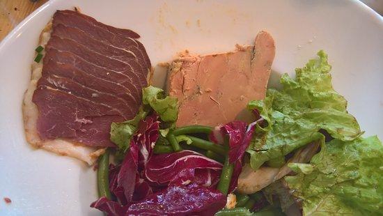 Le Bistrot du Louchebem : Salade gourmande, même le bol n'est pas rempli