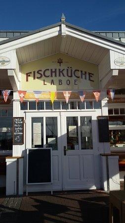 Laboe, Deutschland: Eingang zum Restaurant