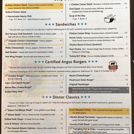 Lake Ariel, Pensilvania: New menu!