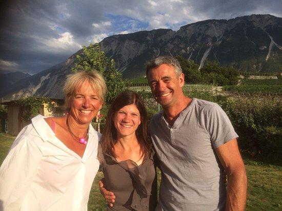 Salgesch, Schweiz: Isabelle und Philippe