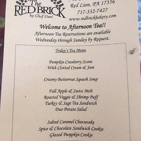 Red Lion, Pensylwania: High Tea