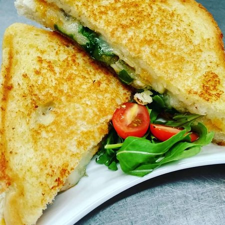 Grilled Cheese (Manchego, Welsh Cheddar, Mozzarella, Rocket and caremalised red onion)
