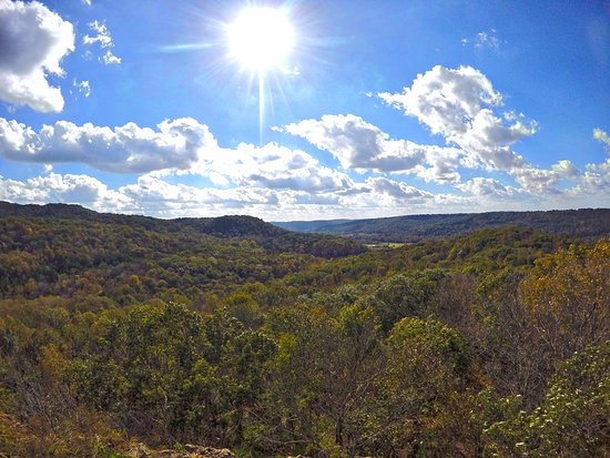 West Union, OH: Buzzards Roost overlook (at the end of the 2.2 hike)