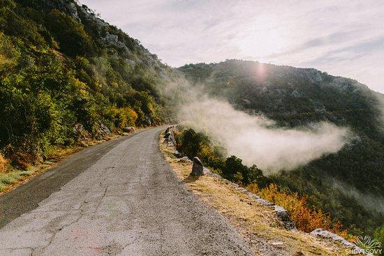 Rijeka Crnojevica road in the morning