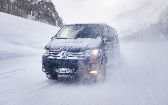Tignes, France: Private Transfers in Volkswagen T6 Caravelles