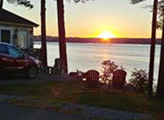 """Edgecomb, ME: Each cottage, plus the central """"lodge"""" and facility, has this stunning view."""