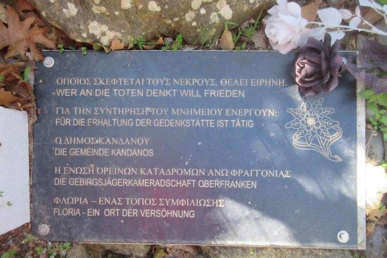 Κάνδανος, Ελλάδα: Reconciliation
