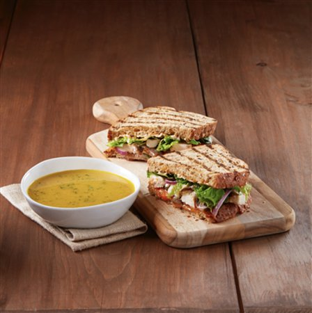 Ladner, Kanada: Soup and sandwich