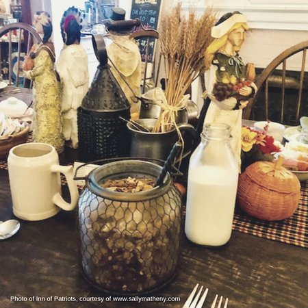 The Inn of the Patriots B & B: Fresh ingredients and delicious breakfast at the Inn of the Patriots. October 2018.