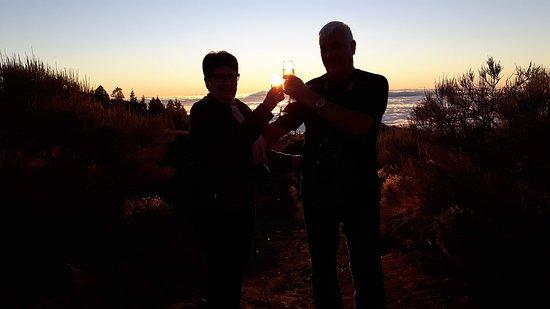 Star Gazing in Tenerife: Photo taken at sunset