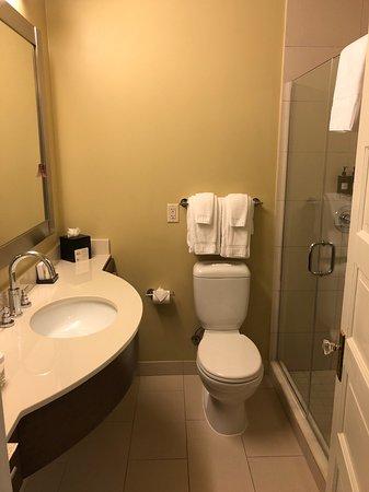 Hotel Abri: Deluxe King room bath