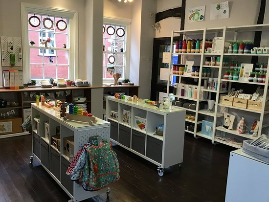 Ruthin, UK: Interior. Brands include Klean Kanteen, Tula, Duns, Plan Toys, Lavera, Storksak, LGR & many more