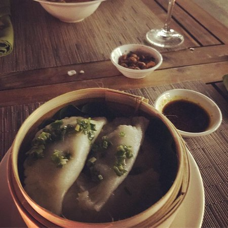 The huge dumplings for entree