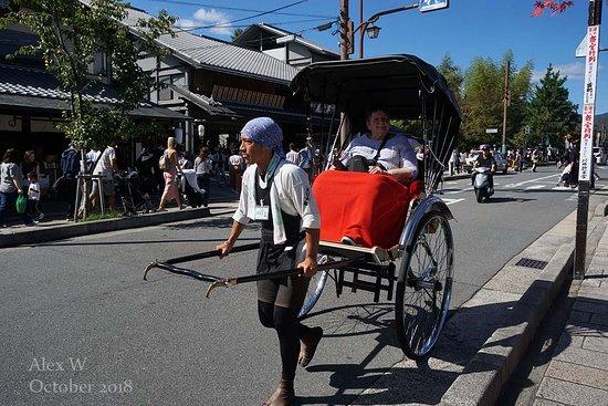 Arashiyama: Expensive thrill: a rickshaw ride