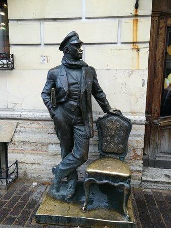 Urban Sculpture Ostap Bender: Городская скульптура Остап Бендер