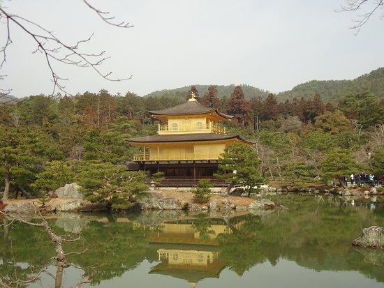 Золотой павильон и его отражение