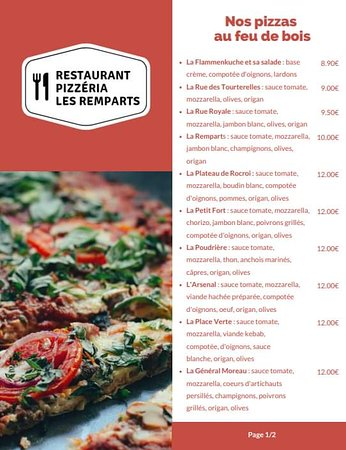 Rocroi, France: Nos pizzas au feu de bois