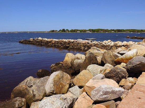 DuBois Beach Stonington Point, CT - Jetty at Beach