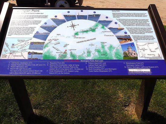 DuBois Beach Stonington Point, CT - Informative Sign