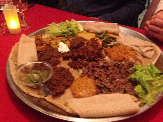 Galette avec viande et légume