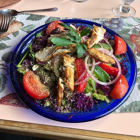 Rossport, Canada: Blackened Chicken Breast On Greek Salad