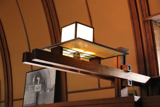 Frank Lloyd Wright's Robie House: Light fixture