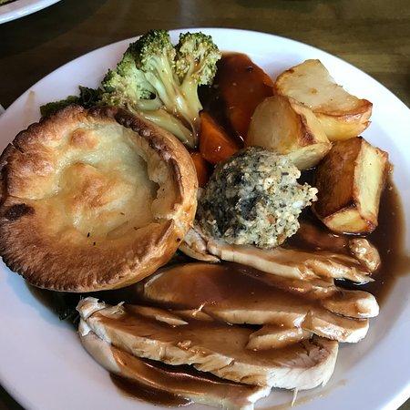 Good Sunday roast and a pint!