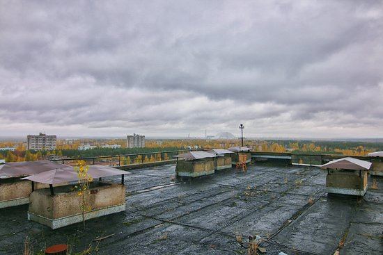 Tour privado en Chernobyl: rooftop in pripyat