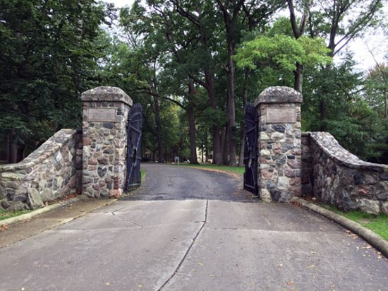 Rutherford B. Hayes Presidential Library & Museums: R. B. Hayes Home, old White House gates