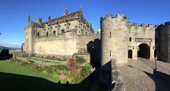 Castle and Queen Anne garden