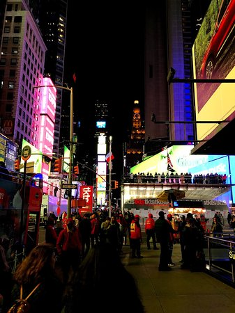 Times Square at Night with the crowd