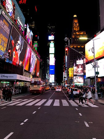 Times Square at Night with less traffic