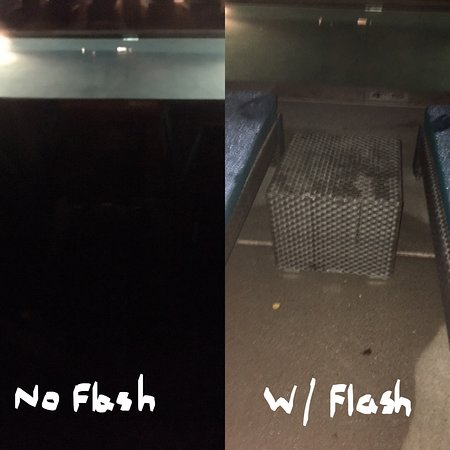 Viceroy Snowmass: Pool area lighting. Incredibly hard to see until you turn on phone flash.