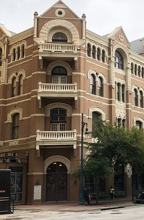 Exterior (corner) entrance to the 1886 Cafe & Bakery -- located inside the historic Driskill Hot