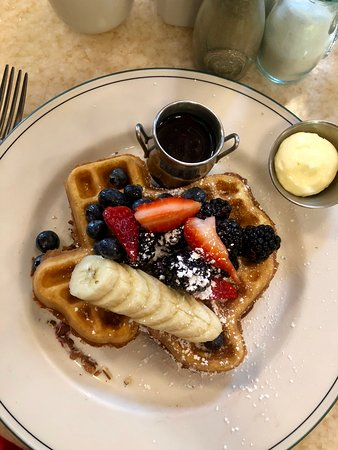 1886 Cafe & Bakery: The Texas Pecan Waffle -- my personal FAVE