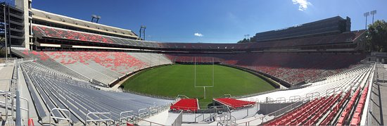 Sanford Stadium: The score board, behind me (not in this picture), is the largest I've ever seen.