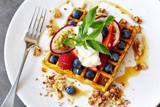 Caringbah, Australia: Pumpkin waffle