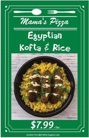 Special Egyptian Kofta & Rice Offer - Come in and try it today 😋