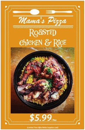 Special Roasted Chicken & Rice Offer- Come in and try it today 😋