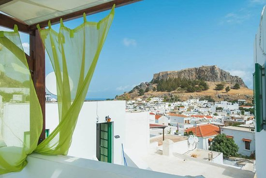 Xenones Lindos: View from common Roof top terrace