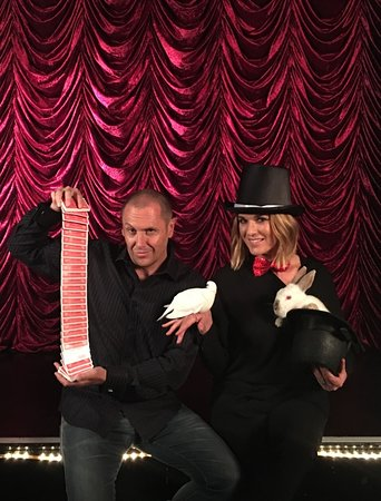 Channel 7 The morning show hosts Lary Edmur and Kylie Gillies story on The Magicians Cabaret