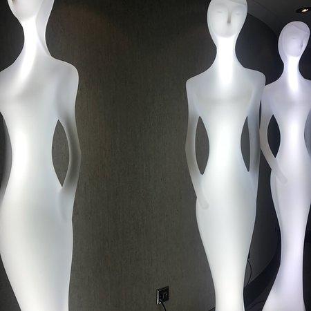Creepy white figures in the hallway