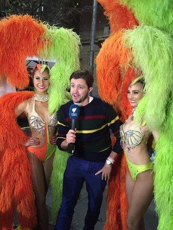Our famous showgirls interviewd on Tour de Fance show