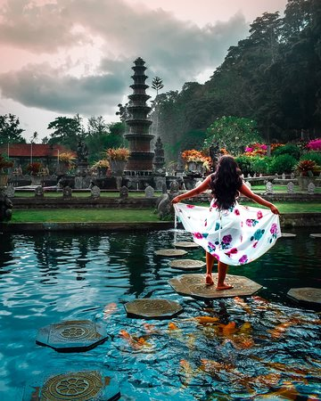 A day trip to tirta gangga with our valued guest