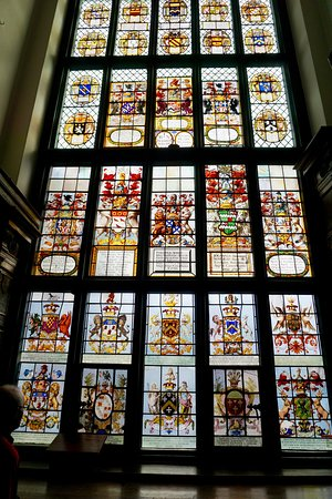 Stained glass window of of Middle Temple Hall