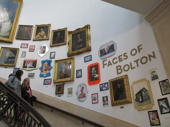 Bolton Library and Museum Services: Staircase to the first floor.