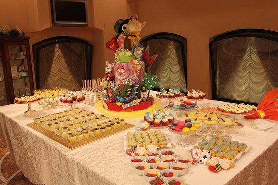 Buffet dei dolci a tema