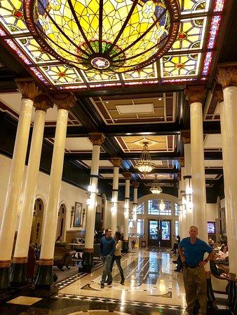 The Driskill's main lobby