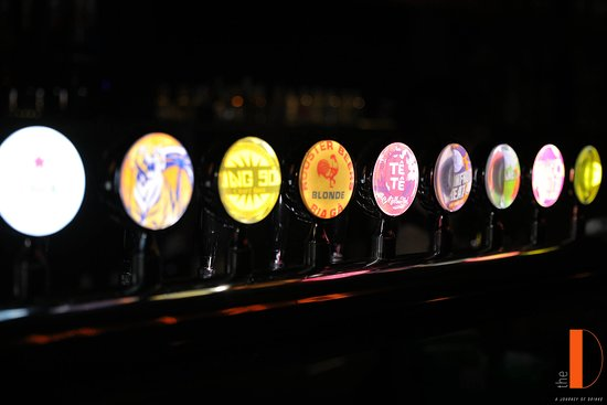 Local craft beers on tap