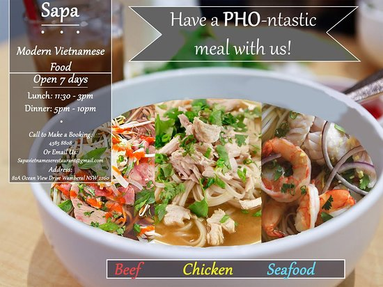 Wamberal, Australia: 3 types of PHO (tradition noodle soup)